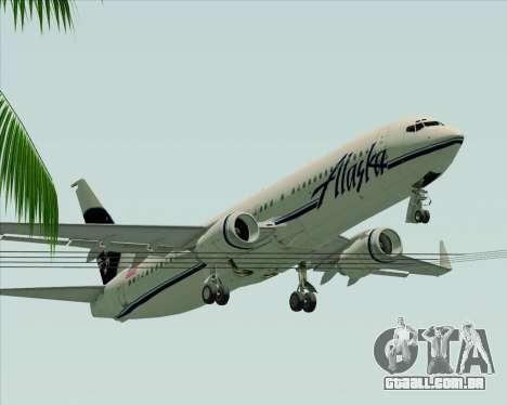 Boeing 737-890 Alaska Airlines para GTA San Andreas vista inferior