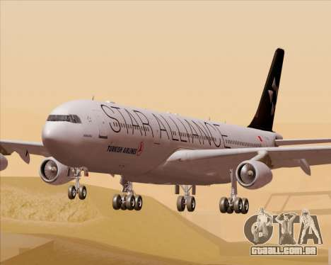 Airbus A340-311 Turkish Airlines (Star Alliance) para GTA San Andreas