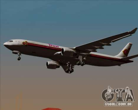 Airbus A330-300 Thai Airways International para GTA San Andreas vista interior