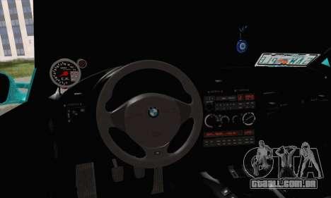 BMW 3-series Cabrio para GTA San Andreas traseira esquerda vista