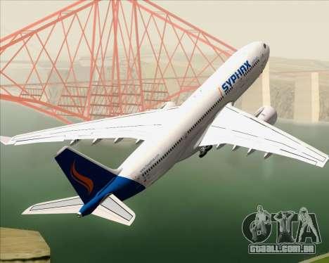 Airbus A330-200 Syphax Airlines para o motor de GTA San Andreas