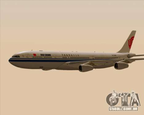 Airbus A340-313 Air China para GTA San Andreas vista superior