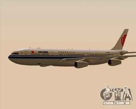 Airbus A340-313 Air China para GTA San Andreas vista superior
