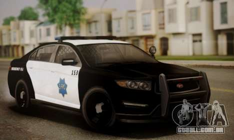 Vapid Police Interceptor from GTA V para GTA San Andreas vista inferior