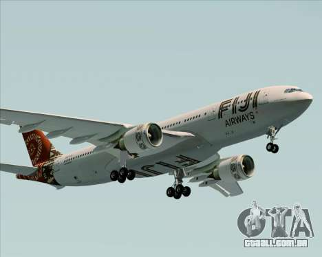 Airbus A330-200 Fiji Airways para GTA San Andreas vista interior
