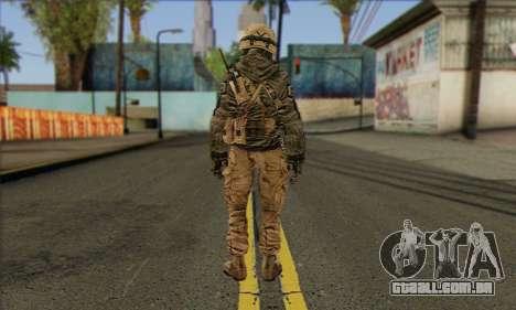 Task Force 141 (CoD: MW 2) Skin 17 para GTA San Andreas segunda tela