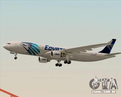 Airbus A330-300 EgyptAir para vista lateral GTA San Andreas