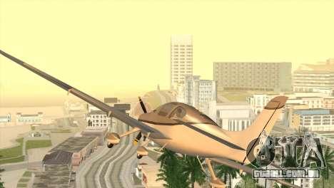 Cirrus SR-22 para GTA San Andreas traseira esquerda vista