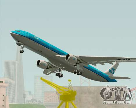 Airbus A330-300 KLM Royal Dutch Airlines para vista lateral GTA San Andreas