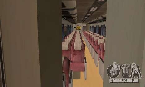 K1 Argo Traincar Indonésio para GTA San Andreas vista traseira