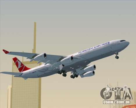 Airbus A340-313 Turkish Airlines para GTA San Andreas vista superior