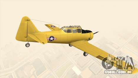 North American T-6 TEXAN para GTA San Andreas esquerda vista