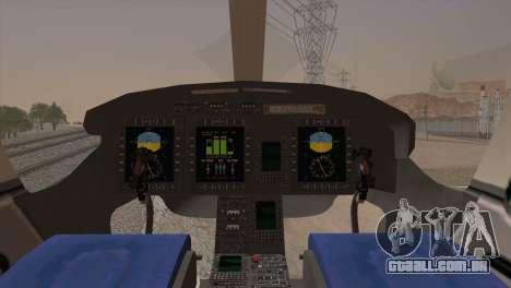 Bell 429 v2 para GTA San Andreas traseira esquerda vista