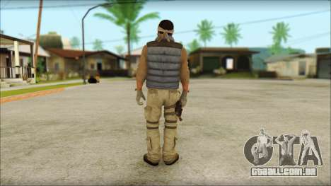 Arabian Resurrection Skin from COD 5 para GTA San Andreas segunda tela