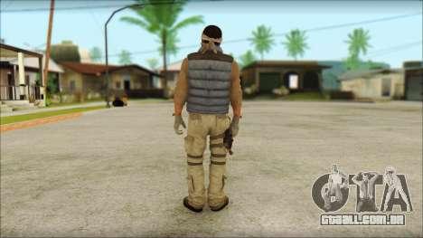 Arabian Resurrection Skin from COD 5 para GTA San Andreas segunda tela