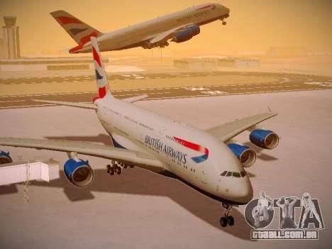 Airbus A380-800 British Airways para GTA San Andreas vista inferior