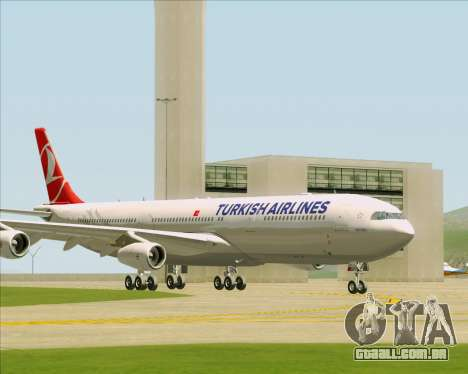 Airbus A340-313 Turkish Airlines para GTA San Andreas esquerda vista