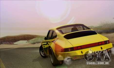 RUF CTR Yellowbird 1987 para GTA San Andreas traseira esquerda vista