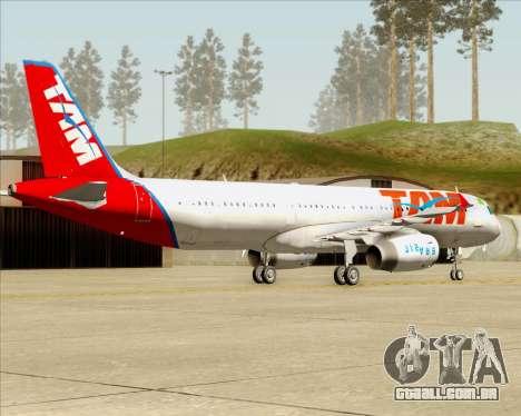 Airbus A321-200 TAM Airlines para GTA San Andreas vista direita