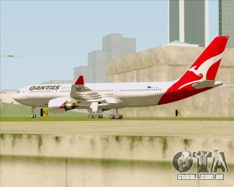 Airbus A330-200 Qantas para GTA San Andreas vista direita