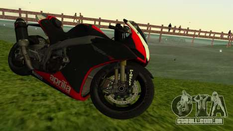Aprilia RSV4 2009 Edition I para GTA Vice City vista traseira