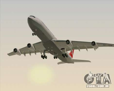 Airbus A340-313 Turkish Airlines para vista lateral GTA San Andreas