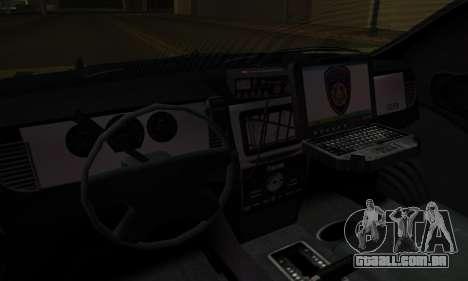 Vapid Police Interceptor from GTA V para GTA San Andreas vista inferior