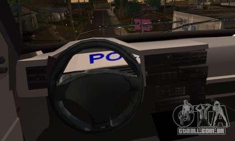 Volkswagen Caravelle Politia para GTA San Andreas traseira esquerda vista