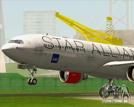 Airbus A330-300 SAS (Star Alliance Livery) para GTA San Andreas vista interior