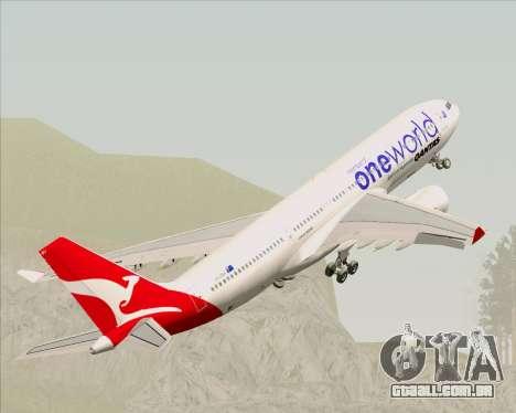 Airbus A330-200 Qantas Oneworld Livery para as rodas de GTA San Andreas