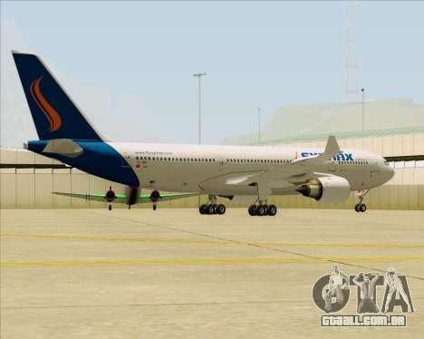 Airbus A330-200 Syphax Airlines para GTA San Andreas vista traseira