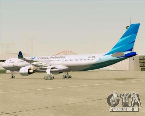 Airbus A330-300 Garuda Indonesia para GTA San Andreas vista traseira