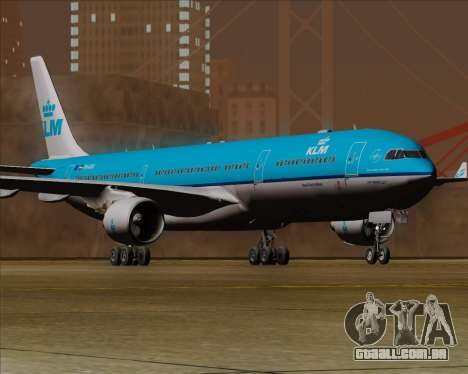 Airbus A330-300 KLM Royal Dutch Airlines para GTA San Andreas traseira esquerda vista
