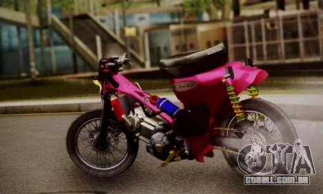 Super Cub Drag para GTA San Andreas esquerda vista