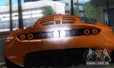 Hennessey Venom GT para GTA San Andreas vista direita