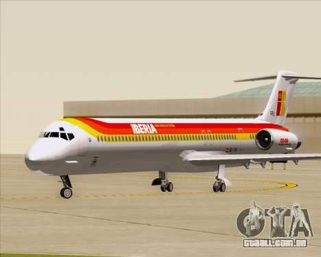 McDonnell Douglas MD-82 Iberia para GTA San Andreas esquerda vista
