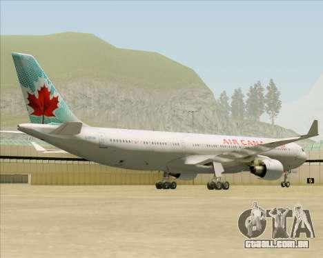 Airbus A330-300 Air Canada para GTA San Andreas vista interior