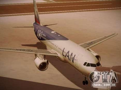 Airbus A320-214 LAN Airlines 100th Plane para GTA San Andreas esquerda vista