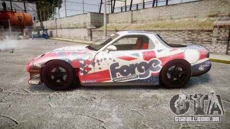 Mazda RX-7 Forge Motorsport para GTA 4 esquerda vista