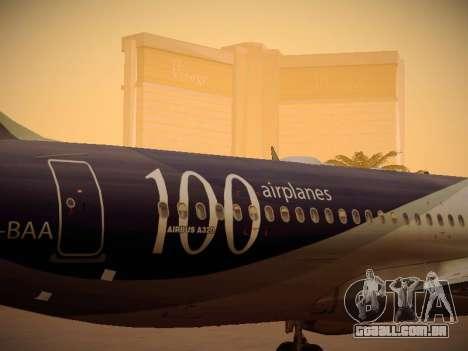 Airbus A320-214 LAN Airlines 100th Plane para GTA San Andreas vista superior