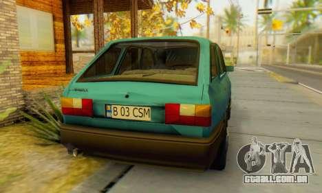 Dacia 1310 Liberta v1.1 para GTA San Andreas traseira esquerda vista