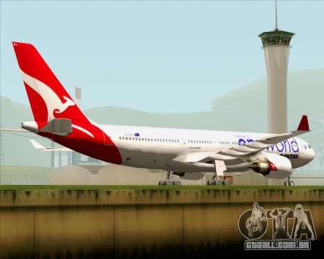 Airbus A330-200 Qantas Oneworld Livery para GTA San Andreas vista superior