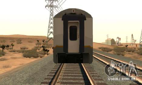 K1 Argo Traincar Indonésio para GTA San Andreas vista direita