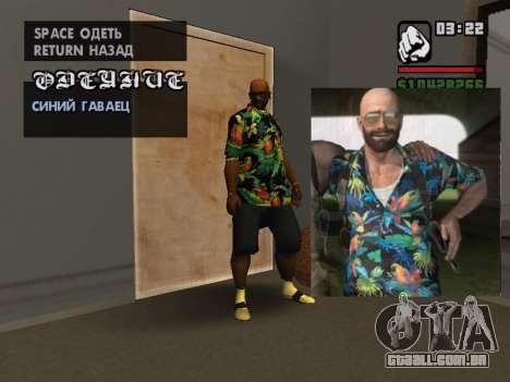 Camisa havaiana como max Payne para GTA San Andreas
