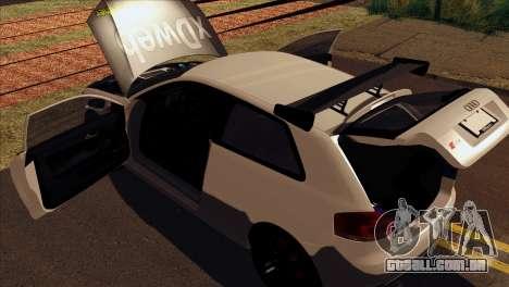 Audi S3 Tuned 2007 para GTA San Andreas vista traseira