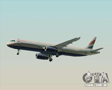 Airbus A321-200 British Airways para o motor de GTA San Andreas