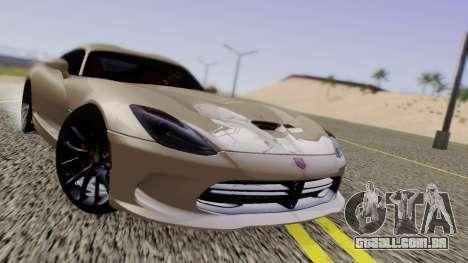 Dodge Viper SRT GTS 2013 Road version para GTA San Andreas