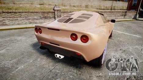 Lotus Exige para GTA 4 traseira esquerda vista