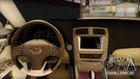 Lexus IS-F 2009 Police para GTA San Andreas traseira esquerda vista