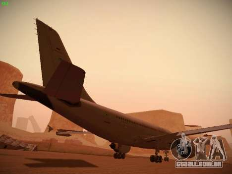 Airbus A310 MRTT Luftwaffe (German Air Force) para GTA San Andreas interior